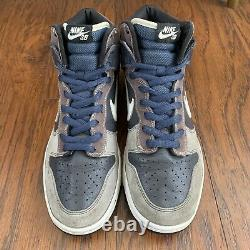 2008 Nike Dunk High Pro SB Un Futura Size 11.5 305050-015 Anthracite White Blue