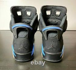 2017 Air Jordan 6 UNC Retro Black University Blue Carolina 384664-006 US 9