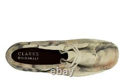 2020 Mens Clarks Originals Wallabee Low Top Limited Edition Off White Camo Shoe