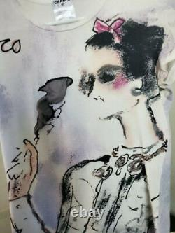 2k Chanel Coco 12p Vintage SMOKING Top 34 36 38 2 4 6 T Top Shirt 2012 Blouse M