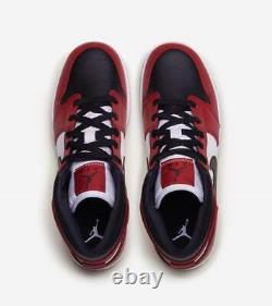Air Jordan 1 Chicago Black Toe Mid Retro GS Red White 554725-069