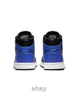 Air Jordan 1 Hyper Royal Retro Mid Black Blue 554724-077