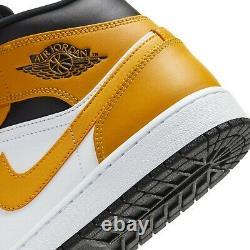 Air Jordan 1 Mid University Gold White Black Yellow 554724-170