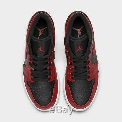 Air Jordan 1 Reverse Bred Low Varsity Red Black 553558-606