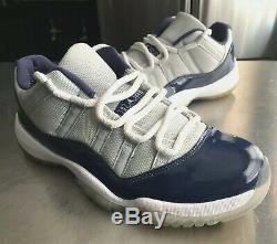 Air Jordan 11 Retro Low Georgetown Edition Grey/blue Mens Size 8 (528895-007)