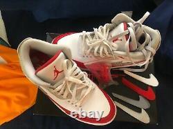 Air Jordan 3 Retro TH SP Athletic Shoes for Men, Size 11 White/University Red