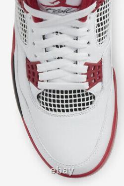 Air Jordan 4 Fire Red Retro OG IV White DC7770-160