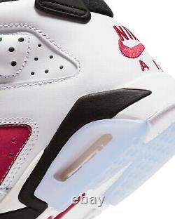 Air Jordan 6 Carmine Retro VI GS OG 2021 Red White 384665-106