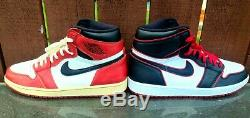 Air Jordan Retro 1 High OG'Bloodline' CUSTOM'Chicago' sz. 13 1985 1994 2015