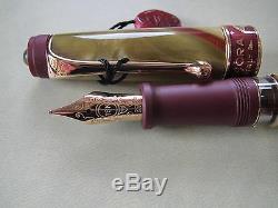Aurora Asia limited edition 18kt gold nib fountain pen MIB