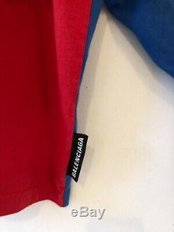 BALENCIAGA DOUBLE SHIRT cotton jersey long + short sleeve combo shirt