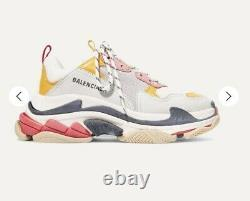 Balenciaga Triple S Size 38 Pink Yellow White! Box Included, shoe bag Included