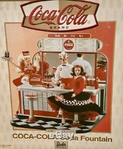 Barbie Playset COCA COLA SODA FOUNTAIN 2000 #26980 NRFB Shipper NO DOLLS