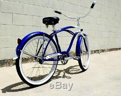 Beach Cruiser Bicycle Light Aluminum Bike Frame Comfort Spring Seat Coast Break