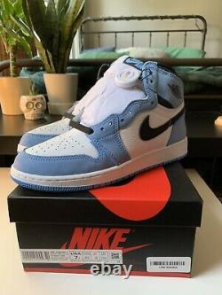 Brand New Nike Air Jordan 1 Retro High GS Size 7Y University Blue 575441-134