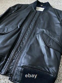 Burberry Brit Bomber Jacket Lamb Lambskin Leather Jacket