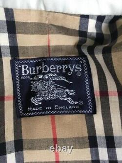 Burberry Women's Back Slit Gabardine Chelsea Trench Coat Honey Size 8/10 Long