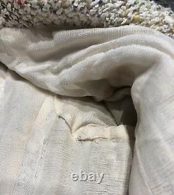 CHANEL CC Boutique Spring 1999 Long Multicolor Tweed Pearl Button Jacket