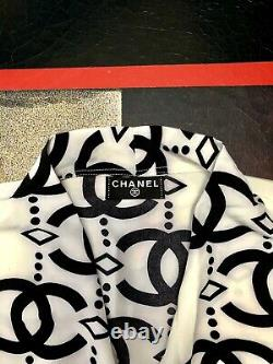Chanel Vintage All Over Interlocking CC Loose Fit Belted Blouse