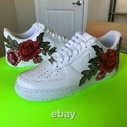Custom Nike Air Force 1 Size 10 10.5 7y 6.5y 6y 9.5 5.5y 6y 4.5y 5y White Flower
