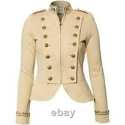 Denim & Supply Ralph Lauren Double-Breasted Cutaway Military Jacket Size L