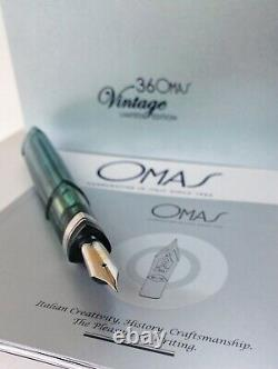 Extremely Rare OMAS 360 Vintage Turquoise Limited Edition Fountain Pen