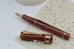 Fountain pen Santini Italia Limited Edition Ebonite pen Libra Lava nib 18Kt