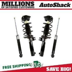 Front Complete Strut & Rear Shock Absorber Kit Set of 4 for VW Jetta Passat CC