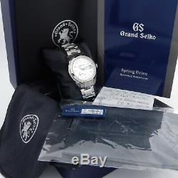 Grand Seiko BLIZZARD SBGE249 Limited Edition Spring Drive GMT COMPLETE MINT