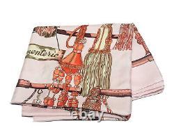 HERMES Paris Passementerie Pink 100% Silk Scarf