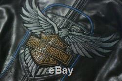 Harley Davidson Men's 115th Anniversary Eagle B&S Genuine Buffalo Leather Jacket