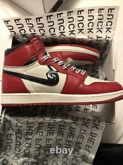 Ineverheardofyou Fck Off 1 Jordan 1 Chicago Custom SIZE 10 RED WHITE FREE SHIP
