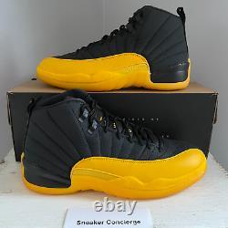 Jordan 12 Retro Black University Gold 130690-070 BLACK YELLOW GOLD