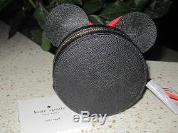 Kate Spade For Disney Minnie Mouse coin purse with cute red bow! BNWT