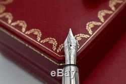 LOUIS CARTIER Railroad Decor Black Lacquer Limited Edition 422/1847 Fountain Pen