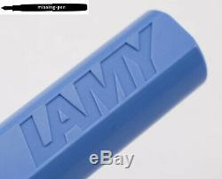 Lamy Safari Limited Edition Color Blue Red / French Blue from 2006 Fountain Pen