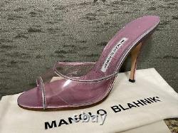 MANOLO BLAHNIKIrridescent Pink Stiletto Sandal