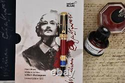 MONTBLANC 2016 William Shakespeare Writers Limited Edition 1597 Fountain Pen M