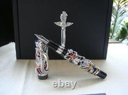MONTEGRAPPA CHAOS SOLID SILVER FOUNTAIN PEN LIMITED EDITION Sylvester Stallone