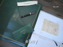 MONTEGRAPPA HISTORIA SILVER 1000 LIMITED EDITION 18K GOLD M nib FOUNTAIN PEN NEW