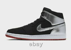 Men's Nike Air Jordan 1 Mid Johnny Kilroy Black Red Silver 554724-057 Size 11