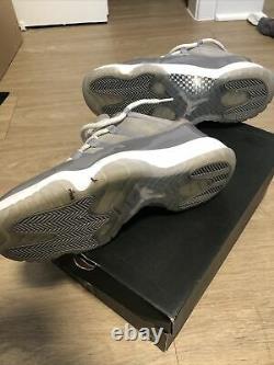 Men's Nike Air Jordan 11 XI Low Retro Cool Grey White Size 10 528895-003