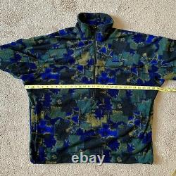 Mens Vintage Rare Nike ACG 1/2 Zip Fleece Jacket Retro Aztec Pattern Size XL