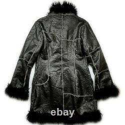 Miss Sixty afghan coat black jacket faux fur vintage Y2K 90s bratz italy Size M