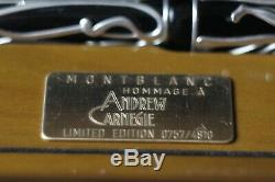 Montblanc Fountain Pen Andrew Carnegie Limited Edition Patron Of Arts 4810