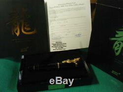 Montblanc Limited Edition 2000 Year of the golden Dragon Fountain Pen NEW JP