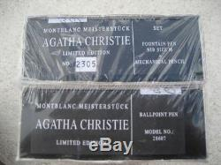 Montblanc Limited Edition Agatha Christie Fountain Ballpoint Pencil Set Sealed