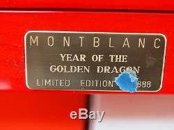 Montblanc Year of the Golden Dragon Fountain Pen Limited Edition 888