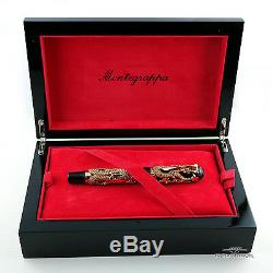 Montegrappa 10th Anniversary Rose Gold Dragon Limited Edition Fountain Pen