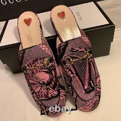 NEW Gucci Princetown Mules Satin Womens Size 8.5